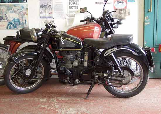 1950s Velocette - luxury in its day.