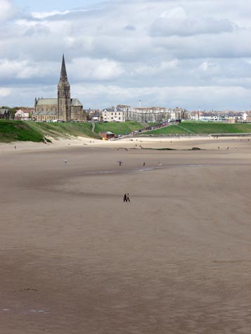 Cullercoats across the sand
