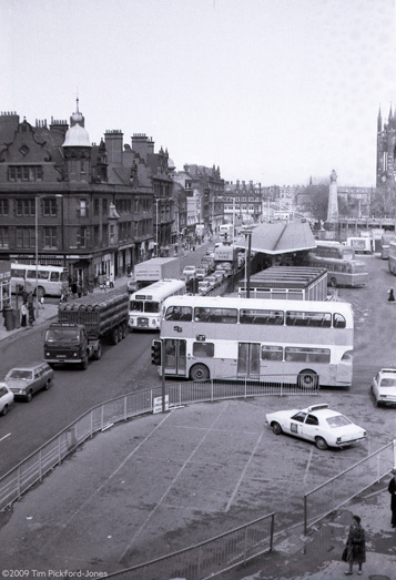 View looking north up Percy Street 7-04-1977