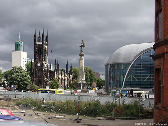 Haymarket Metro Station, S. Africa Memorial, St. Thomas' Church, and Civic Centre