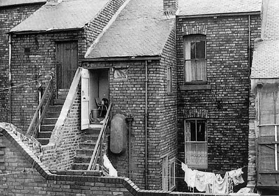 Back of Aline Street in 1964